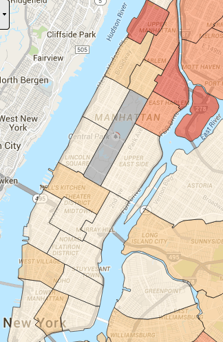 Map Of New York Neighborhoods Manhattan.Safest Neighborhoods In Nyc